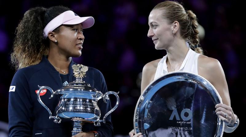 "Naomi Osaka un Petra Kvitova ""Australian Open"" finālā. Foto: EPA/Scanpix"