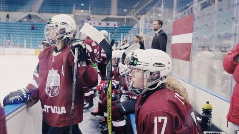 Latvijas sieviešu izlase. Foto: LHF