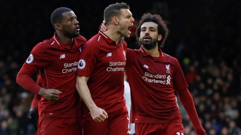 """""""Liverpool"""" spēlētāji. Foto: AP/Scanpix"""