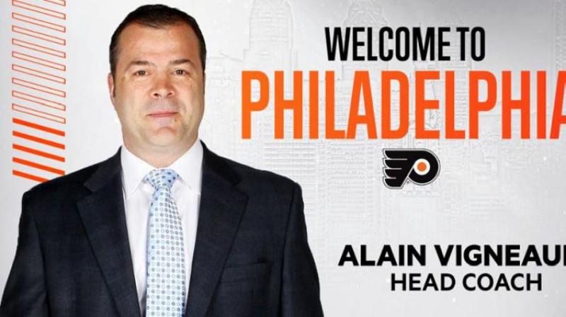 Alēns Viņo. Foto: Flyers/NHL