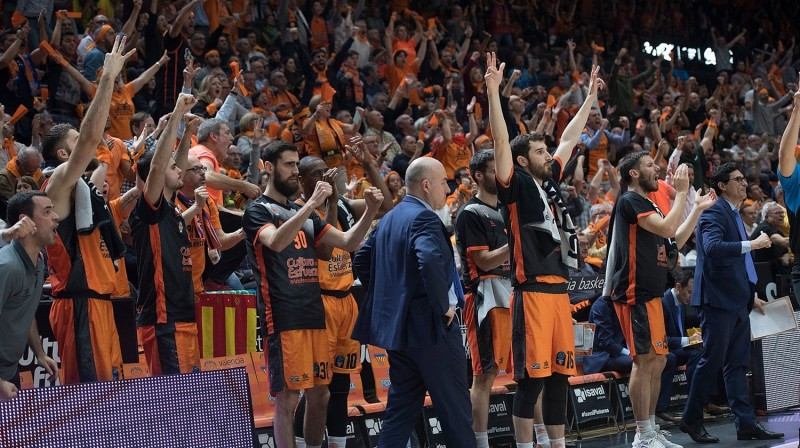 "Valensijas ""Basket"" komanda. Foto: eurocupbasketball.com"