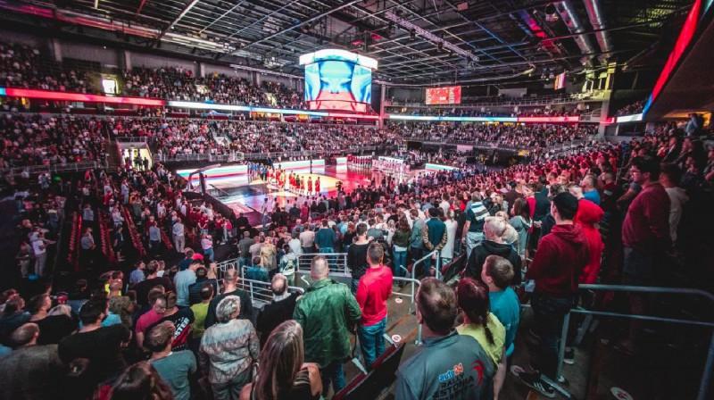 Latvijas un Krievijas pārbaudes spēle Arēnā Rīga 2018. gada vasarā. Foto: basket.lv