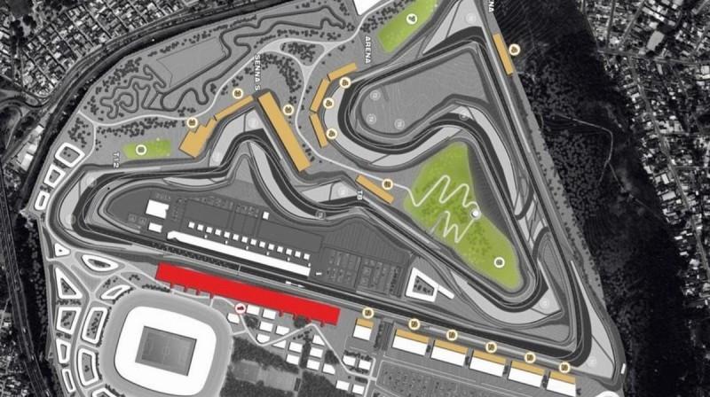 Riodežaineiro F1 trases plāns. Foto: Motorsport.com