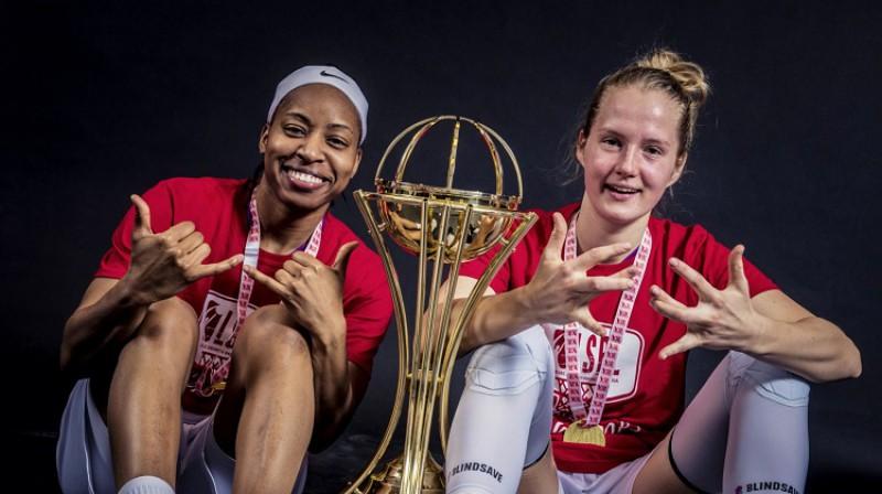 Šeja Pedija un Kate Krēsliņa. Foto: Renārs Koris, basket.lv