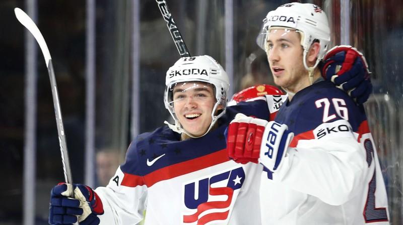 Kleitons Kellers un Kevins Heiss. Foto: AFP/Scanpix