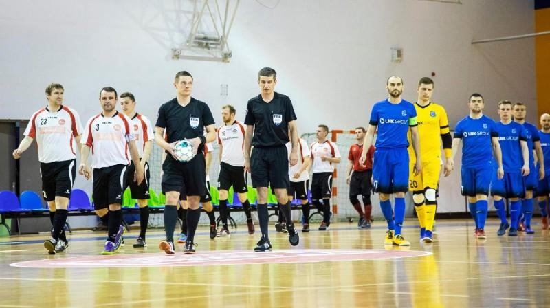 """""""LDz Cargo""""/DFA un """"Nikars"""" futbolisti. Foto: ltfa.lv"""