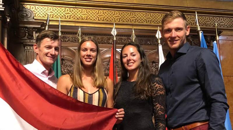 Mārtiņš Pļaviņš, Tīna Graudiņa, Anastasija Kravčenoka, Edgars Točs. Foto: facebook.com/martins.plavins