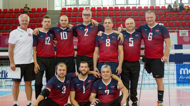 Latvijas sēdvolejbola izlase Eiropas čempionātā. Foto: ParaVolley Europe