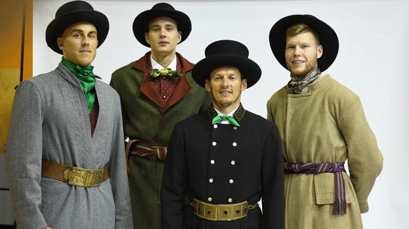 Mārtiņš Meiers, Anžejs Pasečņiks, Jānis Blūms un Dāvis Bertāns. Foto: Romāns Kokšarovs, f64