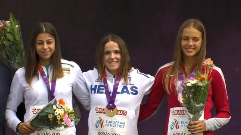 Aleksandra Načeva (Bulgārija), Spiridula Karidi (Grieķija), Rūta Lasmane (Latvija). Foto: eurovisionsports.tv