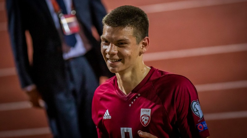 Daniels Ontužāns. Foto: Latvijas Futbola federācija