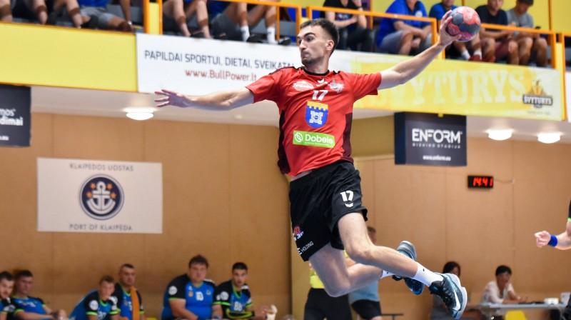 Viktors Tarasenko. Foto: handball.lv