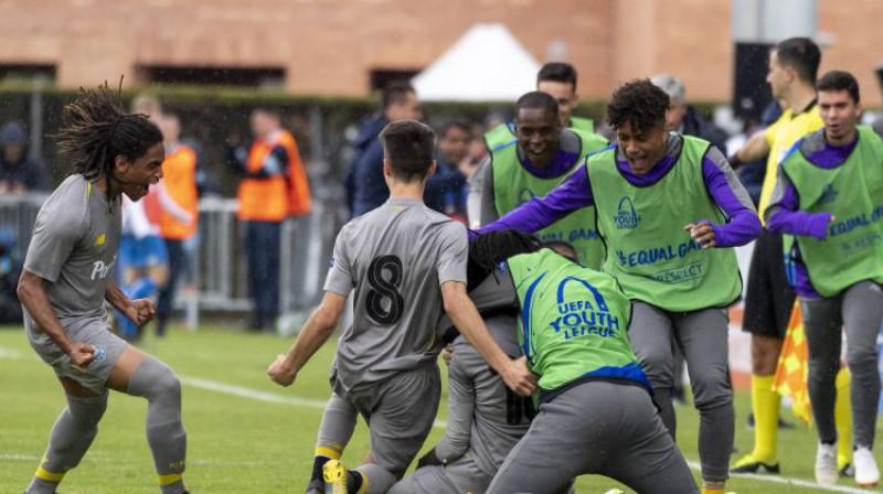 """""""Porto"""" U19 futbolisti aizvadītās sezonas UEFA Jaunatnes līgā. Foto: imago images / Just Pictures/Scanpix"""