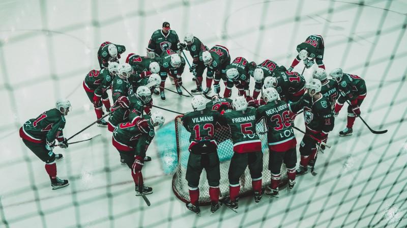 """""""Liepājas"""" hokejisti. Foto: HK """"Liepāja"""