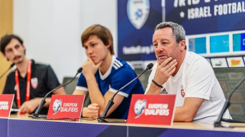 Jānis Ikaunieks un Slaviša Stojanovičs. Foto: LFF/Sanita Sparāne