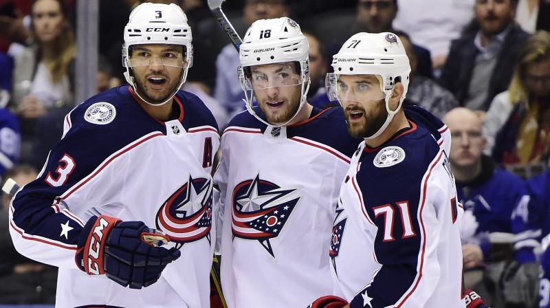 "Kolumbusas ""Blue Jackets"" hokejisti. Foto: Frank Gunn/AP/Scanpix"