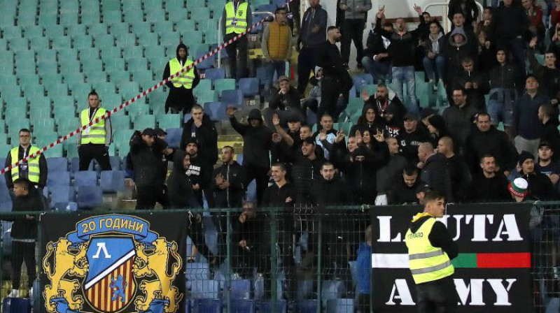 Bulgārijas fani spēlē pret Angliju. Foto: Reuters/Scanpix
