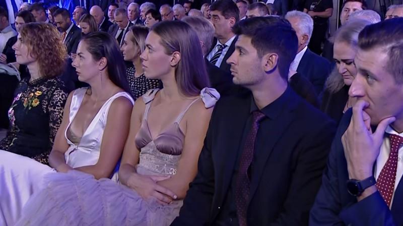 Anastasija Kravčenoka, Tīna Graudiņa, Vjačeslavs Krasiļņikovs, Oļegs Stojanovskis. Foto: CEV - European Volleyball