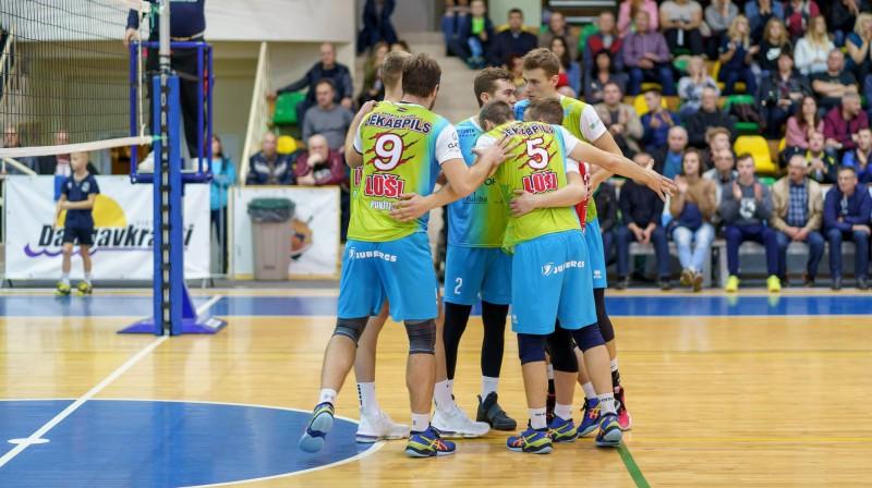 """""""Jēkabpils Lūšu"""" volejbolisti. Foto: Sporta klubs Jēkabpils Lūši"""