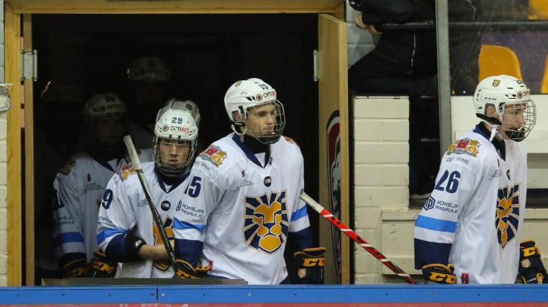 "HS ""Rīga"" hokejisti. Foto: Ģirts Gertsons/F64"