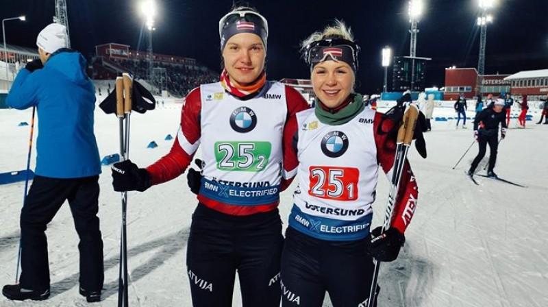 Jūlija Matvijenko (no kreisās) un Ieva Pūce. Foto no Pūces Facebook profila