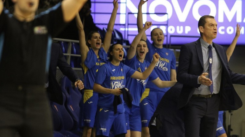 "Gundars Vētra un ""Arka Gdynia"": 3-3 Eirolīgas B grupā. Foto: FIBA"