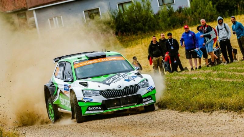 "Kalle Rovanpera ""Škoda"" sastāvā. Foto: Škoda Motorsport"