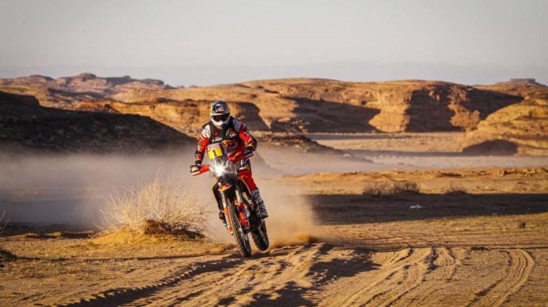 Motociklu klasē uzvarēja Tobijs Praiss. Foto: Dakar.com
