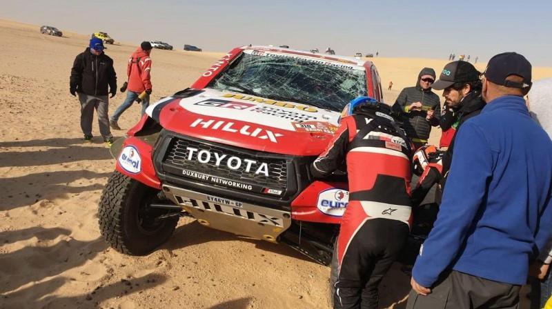 Alonso automašīna pēc avārijas. Foto: @DannyFChen