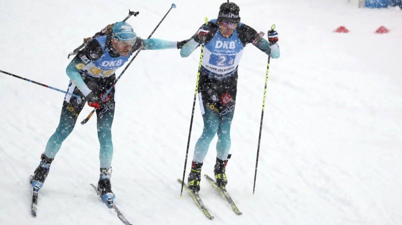 Francūži Simons Destjē un Kantēns Fijons-Majē. Foto: AP/Scanpix