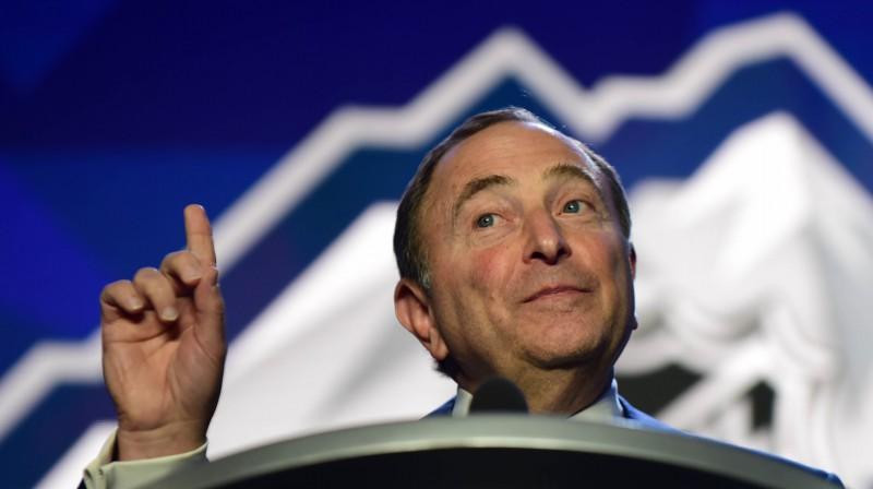 NHL vadītājs Gerijs Betmens. Foto: Anne-Marie Sorvin / USA Today