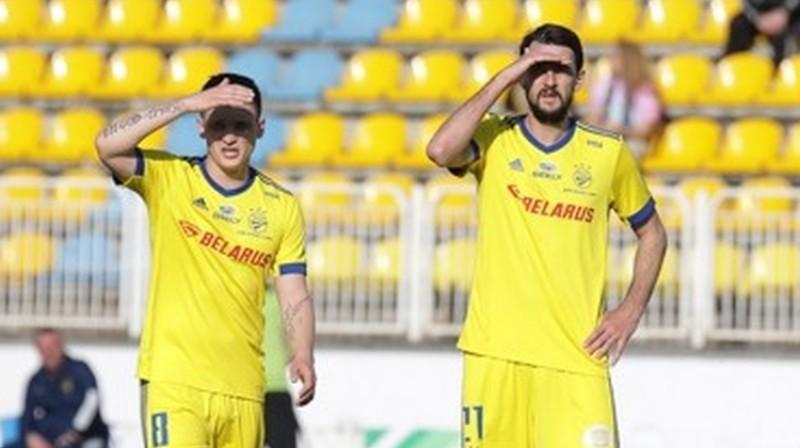 BATE spēlētāji Staņislavs Draguns un Jegors Filipenko. Foto: fcbate.by