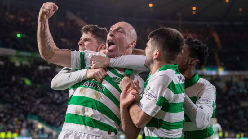 "Glazgovas ""Celtic"" futbolisti. Foto: PA/Scanpix"