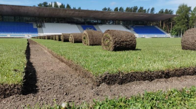 Slokas stadions Jūrmalā. Foto: LFF