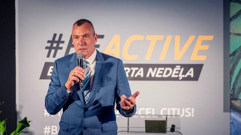 Latvijas Olimpiskās vienības valdes priekšsēdētājs Einars Fogelis. Foto: LOK
