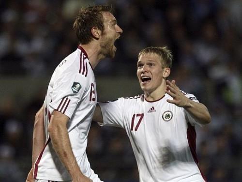 Latvijas izlasei pret Kazahstānu pirmā spēle 2012. gadā