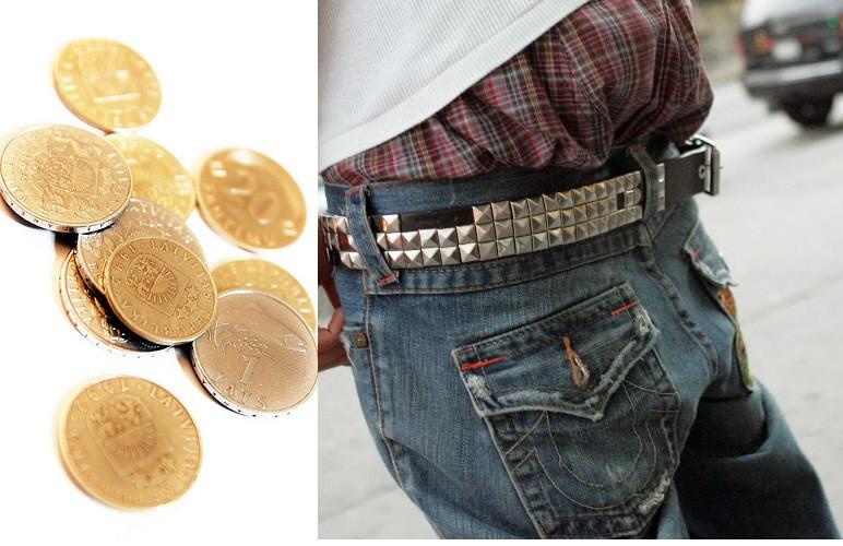 Kam Latvijā vajadzīgas 1 un 2 santīmu monētas vai kā latvietis reperu bikses izdomāja?