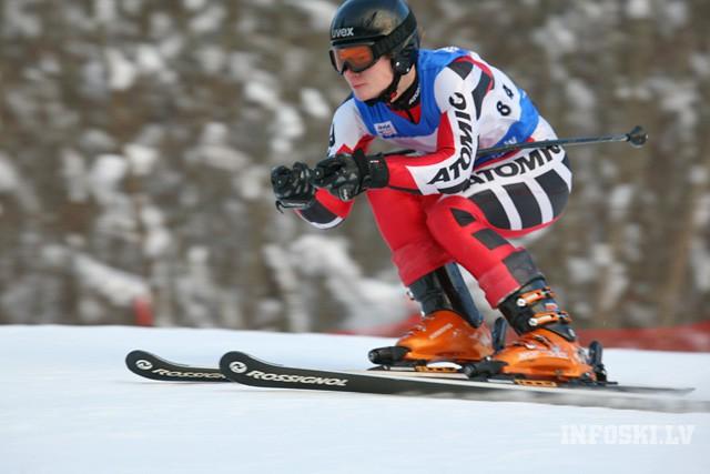 Dāmām dominē Gasūnas, vīriem dažādi uzvarētāji pirmajā dienā Latvijas kausā kalnu slēpošanā