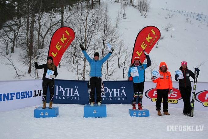 E.Gasūnai un L.Bondarei labākie punkti trešajā dienā FIS slalomā Somijā (video)