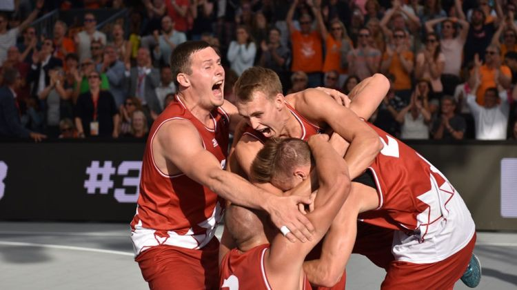 Latvijas 3x3 basketbola izlase sensacionāli triumfē Eiropas kausā