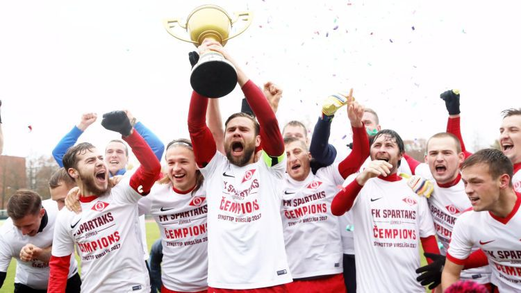 """""""Spartaks"""" otrajā puslaikā nokārto uzvaru un nosargā Latvijas čempiona titulu"""