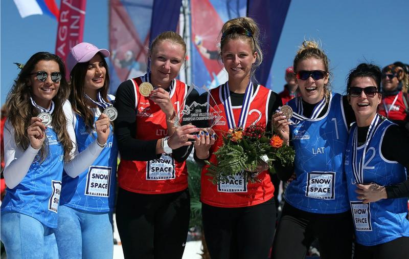 Lecei un Liepiņlauskai sniega volejbola bronza Eiropas čempionātā (+video)