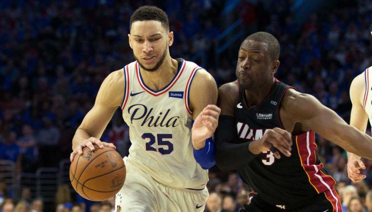 """Veids atgriežas jaunībā un gūst 28 punktus """"Heat"""" uzvarā Filadelfijā"""