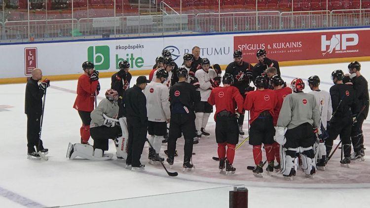Kanādas izlase sāk piecu dienu treniņnometni Rīgā