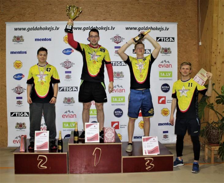Pasaules čempions Caics uzvar Latvijas čempionātā galda hokejā