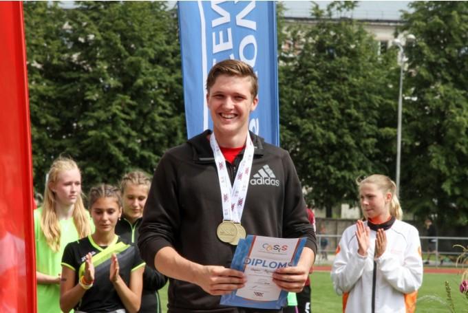 Desmitcīņnieks Kozjakovs otrajā vietā pēc Eiropas U-18 čempionāta sacensību pirmās dienas