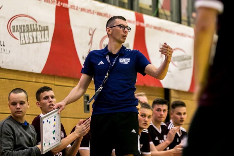 Latvijas U-18 handbola izlase piekāpjas Nīderlandei un spēlēs par 5. - 8. vietu
