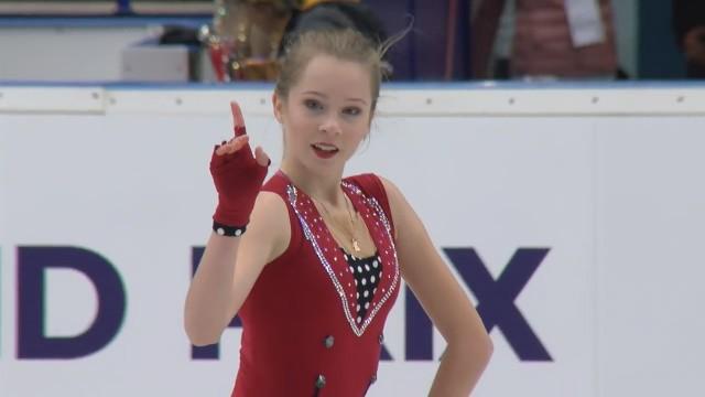 """Daiļslidotāja Lāce junioru """"Grand Prix"""" trešajā desmitā"""