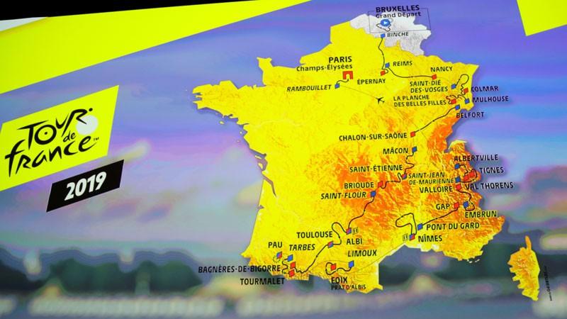 """Nākamā gada """"Tour de France"""" būs kalnainākais vēsturē"""