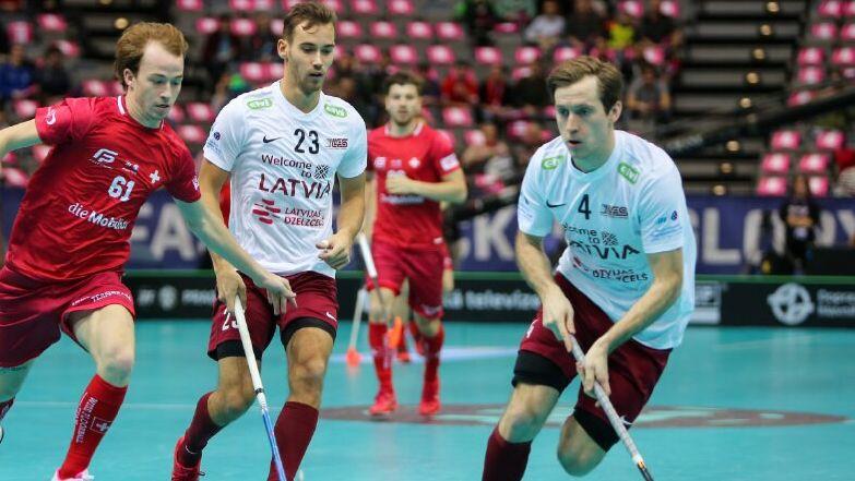 Pēc varenā sākuma Latvijas izlase atzīst Šveices pārākumu